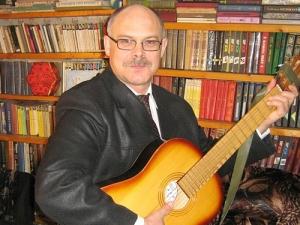 Книжная выставка к60-летию поэта, композитора иисполнителя В.Коткова