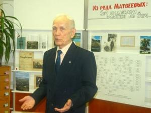 Творческая встреча вклубе «Край удмуртский» сА.Е.Матвеевым