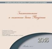 Знаменательные и памятные даты Удмуртии, 2013